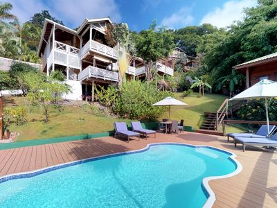 Photo for NEW LISTING! Sunny villa w/views, shared pool & tranquil surroundings-near beach