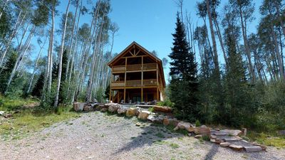 Photo for Mountain Retreat w/ 8 bed Lodge + 3 cabins, pavilion, & lake
