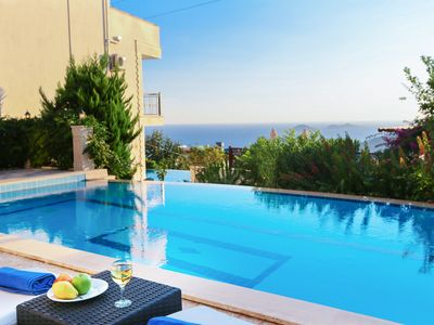 Photo for Villa Sarniç has a Large Pool and Sea Views