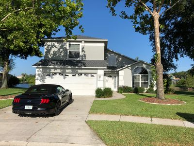 Photo for Amazing Lake view family home just 5 miles from Disney