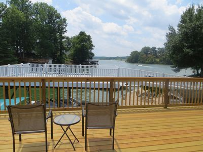 View to the lake from dock deck