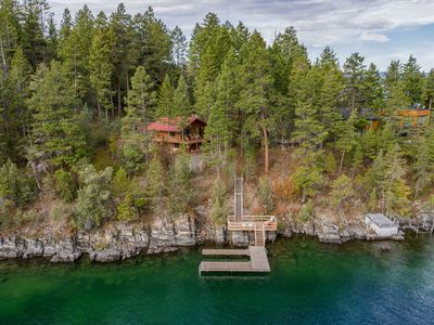 Photo for Exquisite lakefront retreat with gorgeous views & home comforts - family fun!