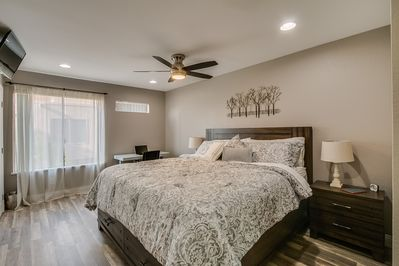 Master Bedroom with Hydraulic Desk and Chair