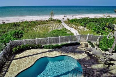 Private Pool and walk way to the beautiful beach on the Gulf of Mexico!