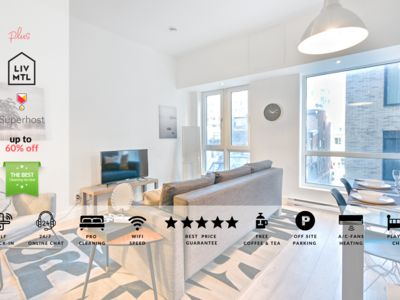 Photo for Liv MTL | Downtown 303 | Up to 60% OFF | Stylish 1BR +City Center + Family