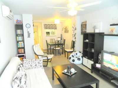 Photo for CASA GARBI - Charming apartment in the centre of town 250m from the beach with air conditioning, wif