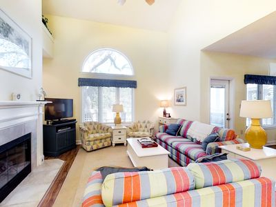 Photo for Amazing townhome w/ private deck & lagoon view - close to the beach