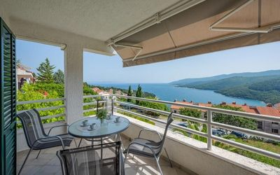 Photo for One bedroom apartment with terrace and sea view Rabac, Labin (A-16022-b)