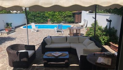 """Photo for Cozy Holiday Home """"Villa con piscina per 4 posti - PT54"""" with Pool & Garden; Parking Available"""