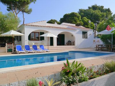 Photo for Newly renovated, secluded, spacious, tree lined villa in Binibeca Nou