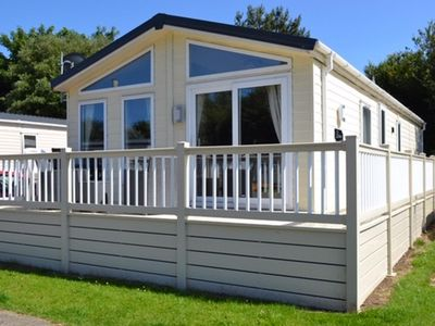 Photo for Luxury lodge for hire at Broadland sands holiday park with decking ref 20349