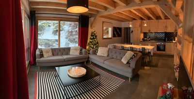 Photo for 4-star chalet - Sleeps 13 - South-facing with view over Col du Galibier