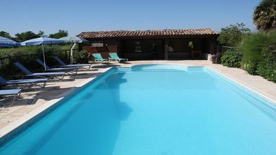 Photo for Luxury Farmhouse Accommodation with enclosed solar- heated pool