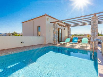 Photo for Villa Melina: Private Pool, Walk to Beach, Sea Views, A/C, WiFi, Car Not Required