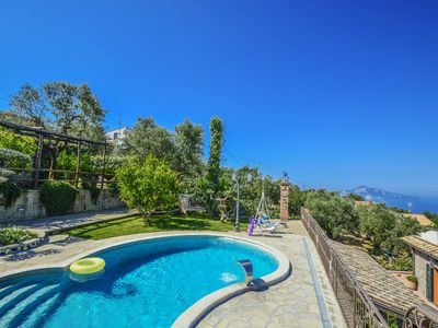 Photo for Private-Villa for 14 people with parking, swimming pool and stunning sea view