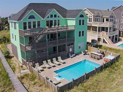 Photo for Panoramic Oceanfront View-Pool, Hot Tub, Tiki Bar w/Grill, Game Rm, Dog-Friendly