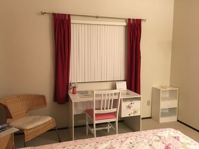 A corner to read and write in the mater bedroom