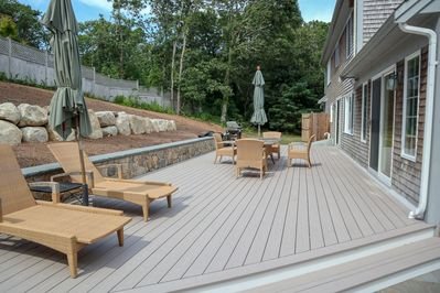 Spacious, beautiful deck, perfect for families of all sizes