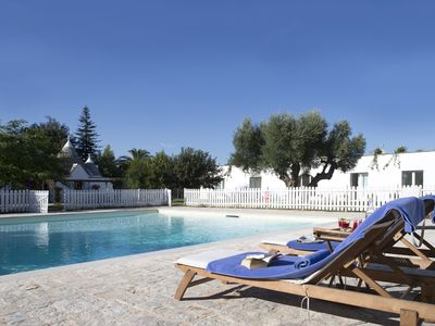 Photo for Luxurious Trullo and Villa. Ideal for Families - Fenced Pool. Great Location.