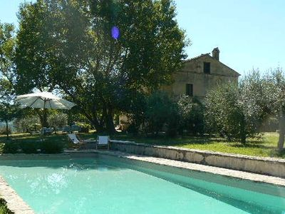 Photo for Charming Farmhouse & Pool.Walk to Hilltop Village: Sleeps 8