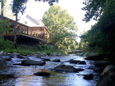 Photo for Romantic NC Mountainside & Riverside Cabin Suite on Vineyard Property