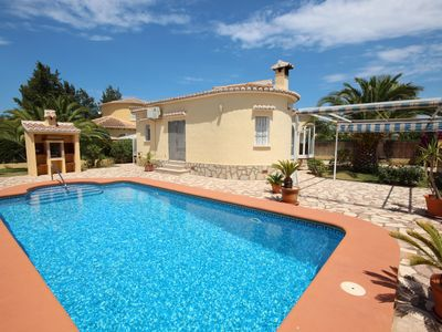 Photo for Well maintained 2 bedroom villa in a quiet residential area with a private pool just 600 m from the sea