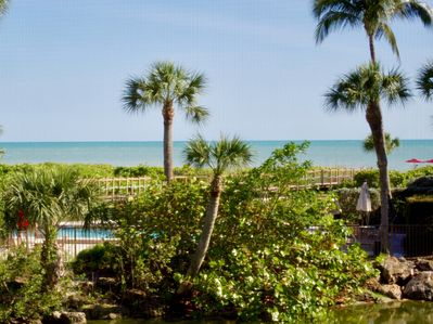 The warm Gulf waters are just steps from the condo!
