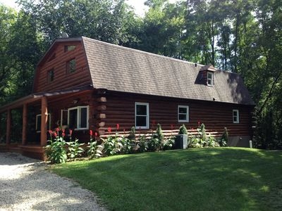 Photo for Total Privacy !!! Log Home Surrounded By 5 Acres Of Woods near Geneva Lake.
