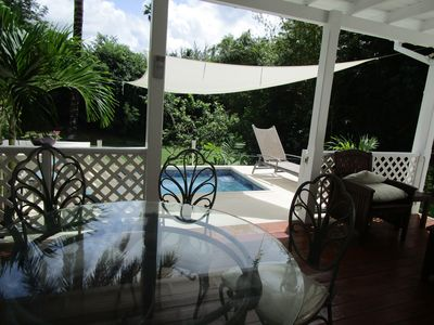 Photo for La Paillote Pool Villa, 3 bedroom, close beach, tropical garden
