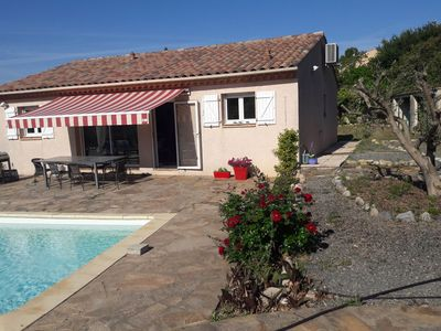 Photo for Child and dog friendly villa with private pool, airco located near centre