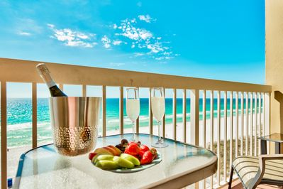 Relax and enjoy! Gorgeous gulf views for miles, right from your private balcony!