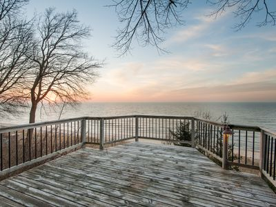 Photo for June Discounts for Full Weeks - Private Sandy Beach & Endless Lake Michigan Views