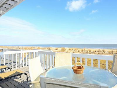 Photo for LINENS INCLUDED! OCEANFRONT!  GORGEOUS VIEWS!  DAILY Activities. DEWEY BEACH OCEANFRONT end unit