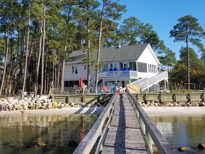 Photo for Red Fish, Blue Fish - 20 Steps to the Bay, Private Dock, Decks, DOG Friendly!