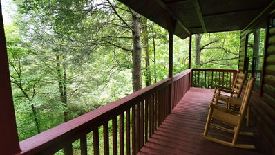 Photo for 2 Bedroom Cabin Moonshine Ridge – in woods, Wears Valley, 12 mins Pigeon Forge