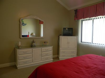 Our  newly painted master bedroom that has a view of the ocean!