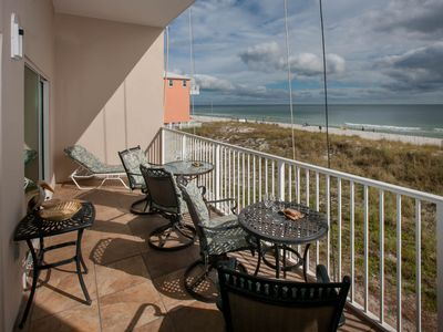 Photo for Great oceanfront condo. Enjoy sun rise and dolphins Beach And Pools Now Open.