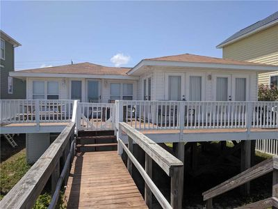 Photo for Gita Cottage: Comfy 3 Bedroom Oceanfront Home with a Private Walkway to Carolina Beach.