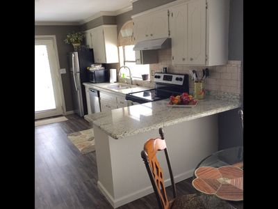 Kitchen with all new Stainless Steel Appliances.