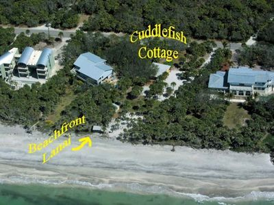 Arial view of our Cuddlefish Cottage..