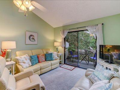 Photo for This bright and fresh, newly appointed two bedroom one bath condo features a king bed in the master and a twin/full/twin bunk the guest bedroom.  It is located on the 2nd floor and has a beautiful, private balcony.  There are no elevators at this com