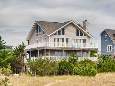 Photo for Peaceful Oceanfront Views in Salvo w/ Hot Tub, Grill, Game Room, Walk to Beach!
