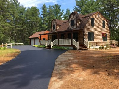 Photo for Clean, Spacious, 4 Bdrm Log Style Home in Madison (Silver Lake) NH