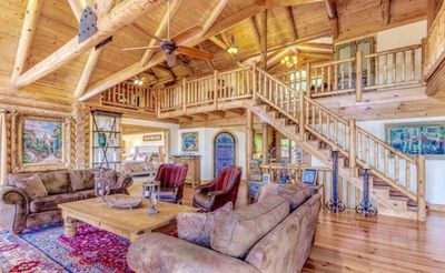 Photo for Custom built mountain lodge, with views of Amicalola and Appalachian mountains.