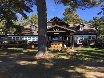 Photo for WATERFRONT CABIN WITH OUTDOOR BAR BIG ST GERMAIN LAKE