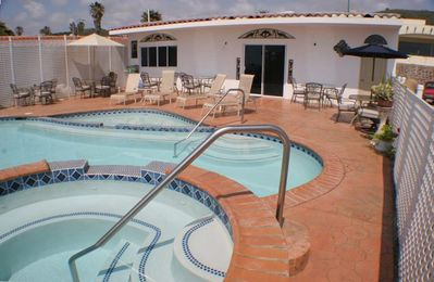 Our Cabana With Solar Heated Swimming Pool and 103 Degree Whirlpool