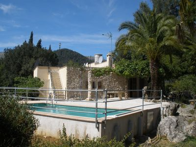Photo for Cottage with private pool, free WiFi, mountain views and huge garden.