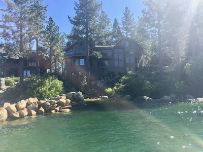 Photo for Breathtaking Lakefront Home- Private beach-Fabulous sunsets-Kayak & canoe too!