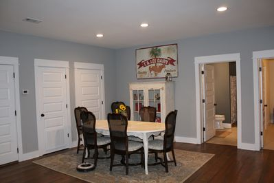 The dining room area.