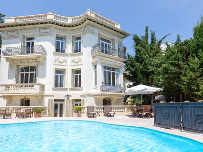 Photo for Villa in centre of Villefranche, near beach with big pool